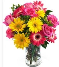 Vazoda Karışık mevsim çiçeği  Düzce hediye sevgilime hediye çiçek