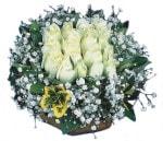 Düzce çiçek mağazası , çiçekçi adresleri  Beyaz harika bir gül sepeti