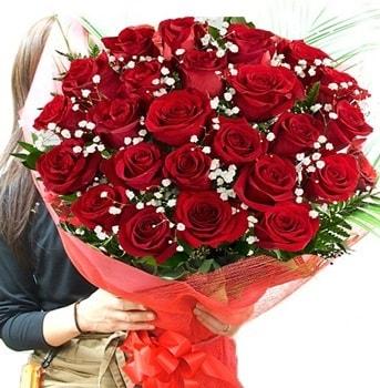 Kız isteme çiçeği buketi 33 adet kırmızı gül  Düzce internetten çiçek siparişi