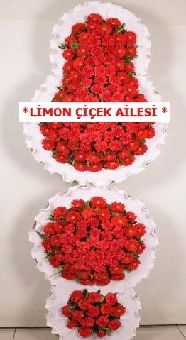 3 katlı kırmızı düğün açılış çiçeği  Düzce online çiçek gönderme sipariş
