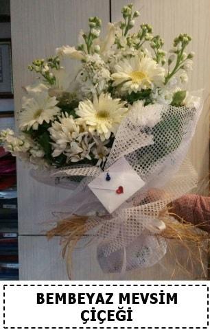 Bembeyaz görsel mevsim çiçek buketi  Düzce çiçek siparişi vermek