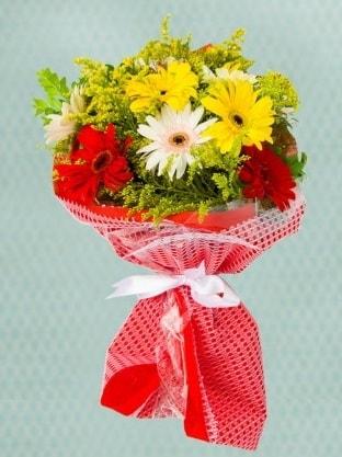 Karışık Gelbera Buketi  Düzce çiçek online çiçek siparişi