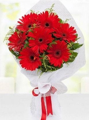 Kırmızı Gelbera Buketi  Düzce kaliteli taze ve ucuz çiçekler