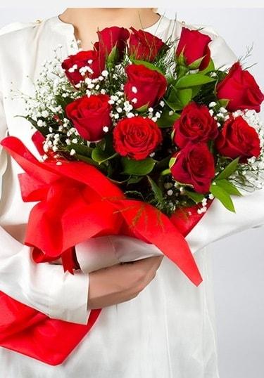 Aşk Gülleri 11 Adet kırmızı gül buketi  Düzce cicek , cicekci