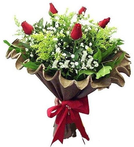 5 adet gülden buket  Düzce internetten çiçek siparişi