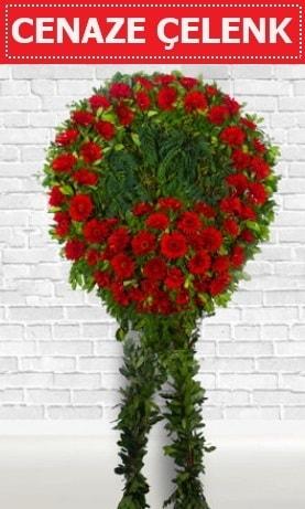Kırmızı Çelenk Cenaze çiçeği  Düzce çiçekçiler