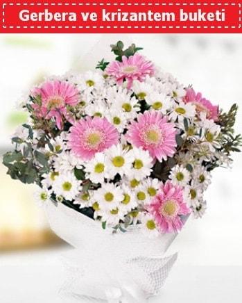 Papatya ve Gerbera Buketi  Düzce uluslararası çiçek gönderme