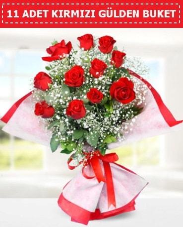 11 Adet Kırmızı Gül Buketi  Düzce kaliteli taze ve ucuz çiçekler