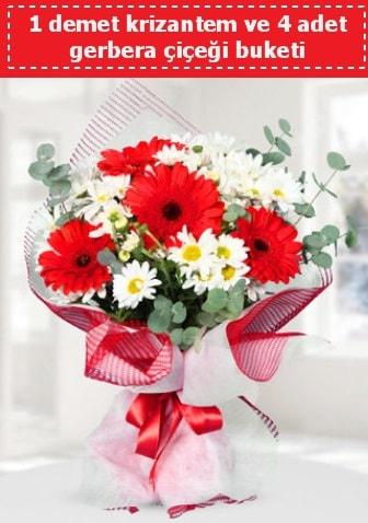 Krizantem ve Gerbera Buketi  Düzce çiçek online çiçek siparişi