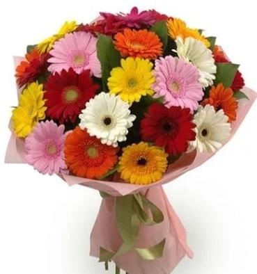 Karışık büyük boy gerbera çiçek buketi  Düzce cicekciler , cicek siparisi